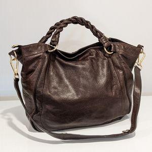Banana Republic brown leather hand bag